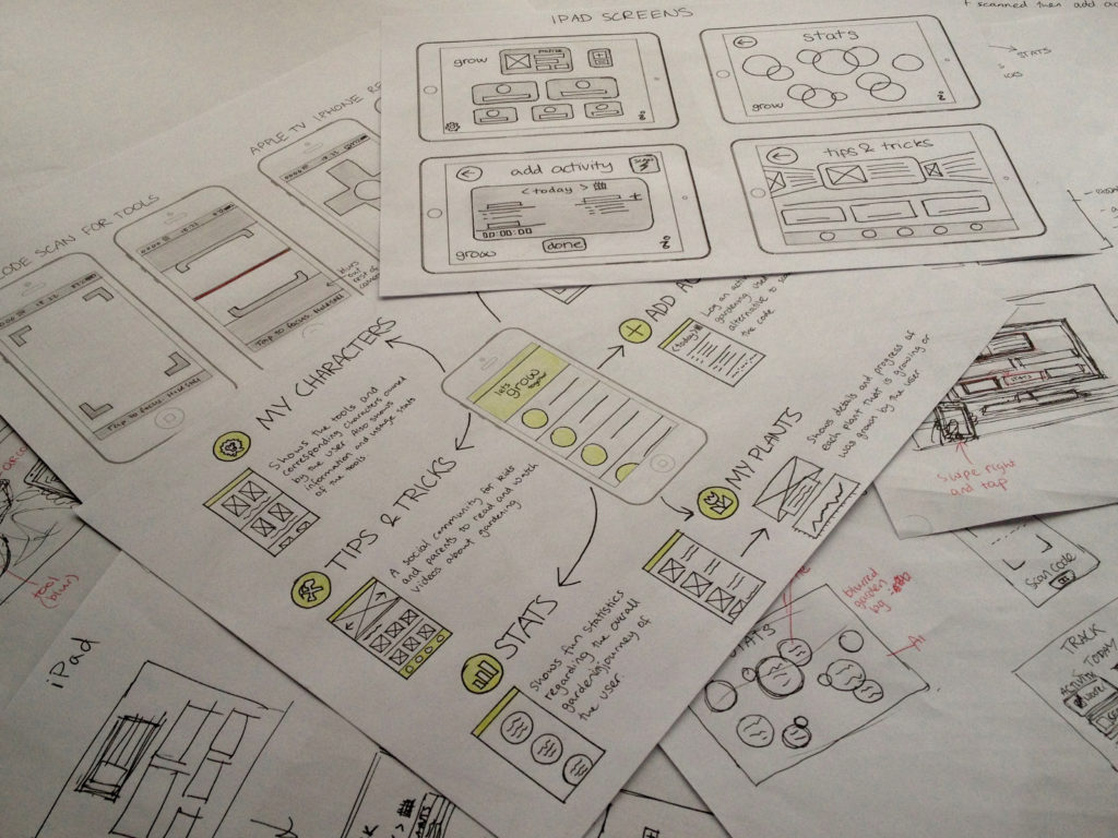 grow wireframes